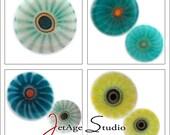 Lily Pond Blend 104 coe handpulled custom murrini from JetAgeStudio