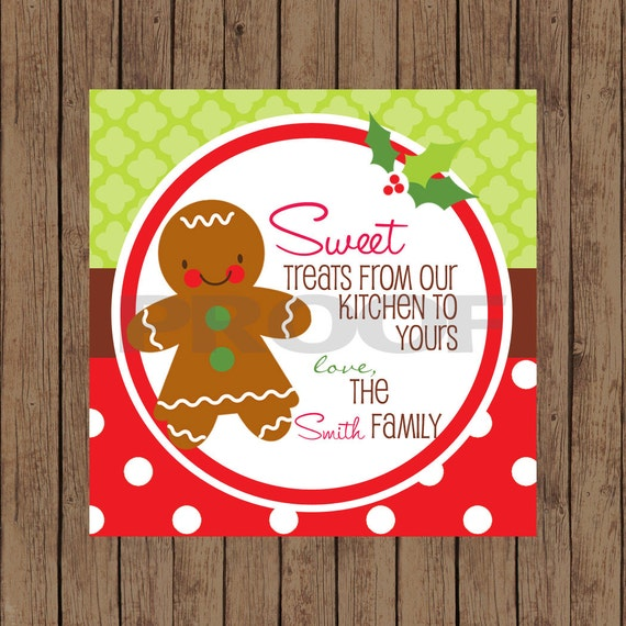 Gingerbread Favor Tags / Gingerbread Tags / Christmas