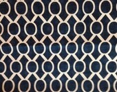 Decorative-Accent Body Pillow Cover - Approx 20 X 54 inch-White on Navy Geometric Sydney -Free Domestic Shipping