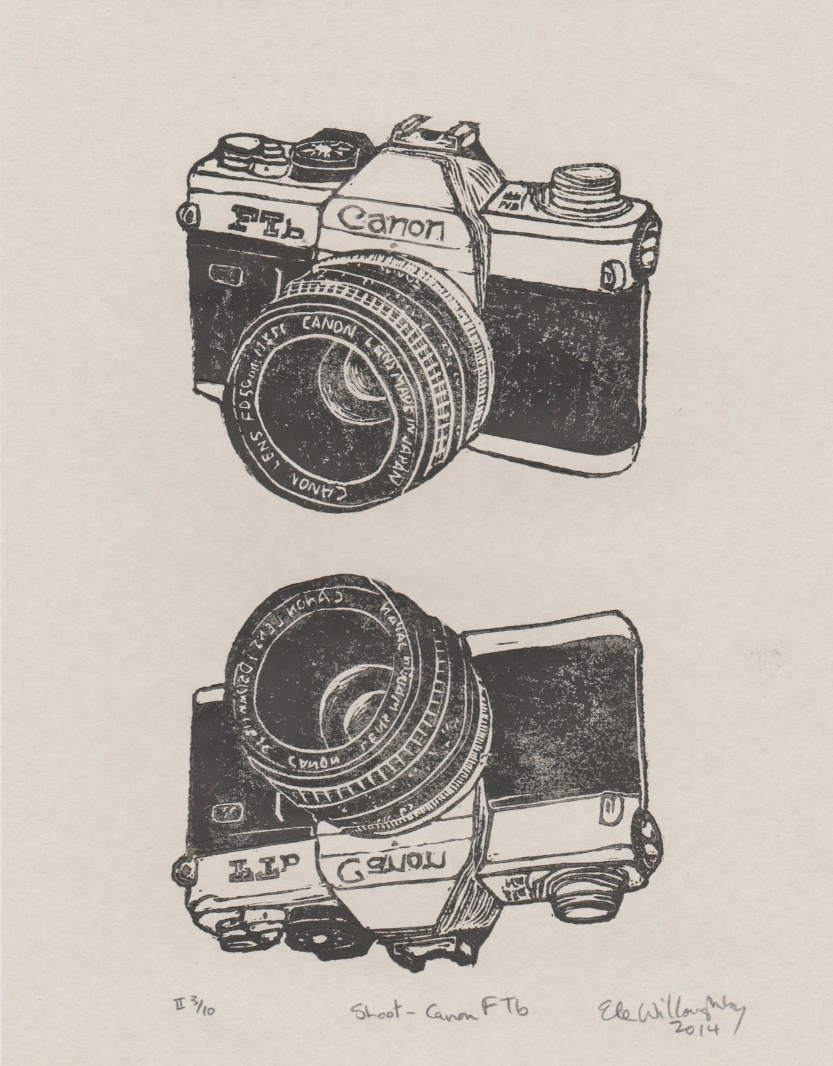 This is a graphic of Unusual Canon Camera Drawing