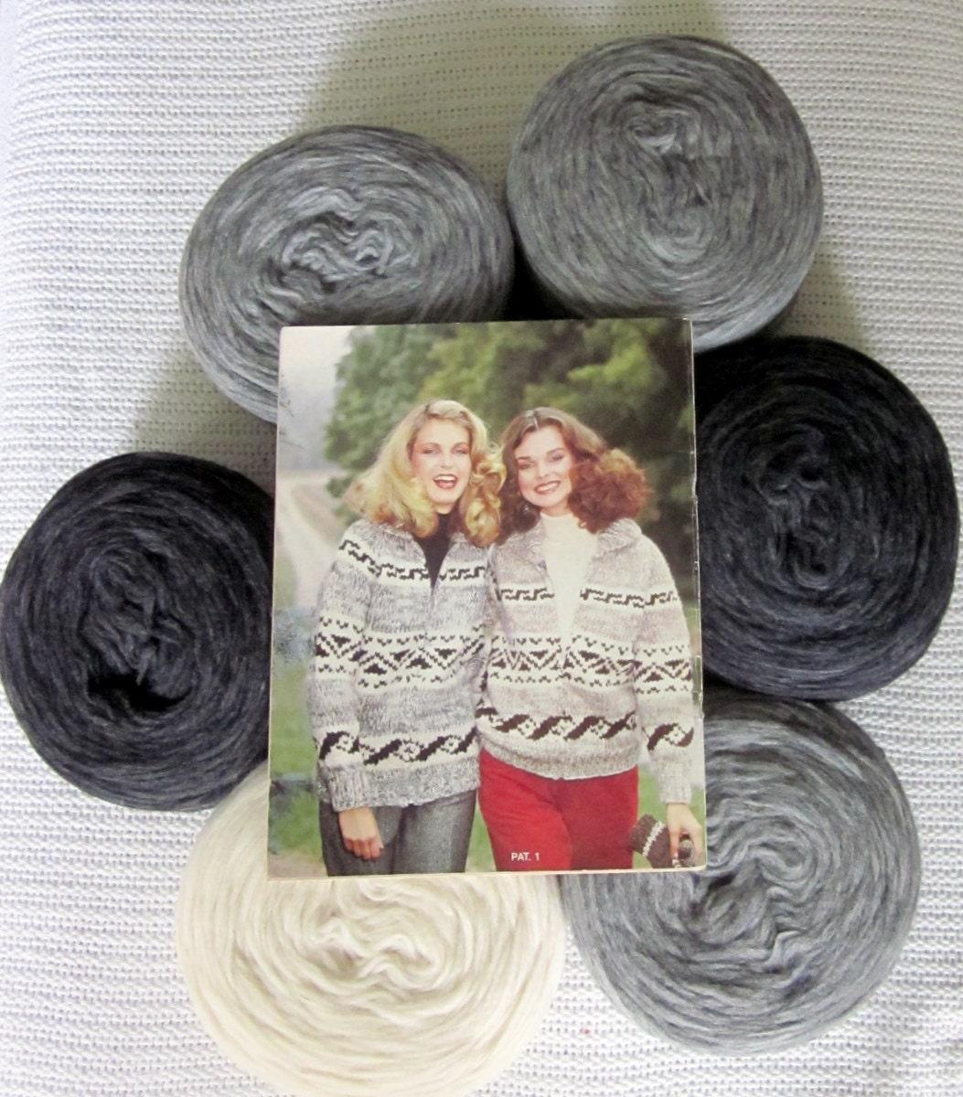 Beginner Knitting Kits Canada : Knitting kit cowichan sweater geometric pattern canadian
