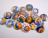 Southwestern Style Celestial Flatback Buttons, Pins, Magnets 12 Ct.