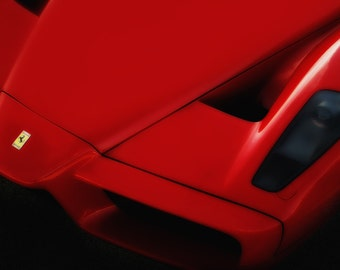 Ferrari Enzo Hood - Automotive Art -  Home Decor