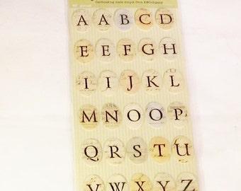Life's Journey, self adhesive, alphabets, 60 pieces, C, destash