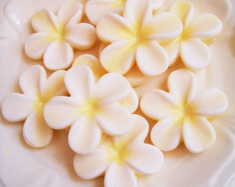 Plumeria Soap Set - Flower Soap, Frangipani Soap, Wedding Favors, Bridal Shower, Soap Favors,  Hawaiian Flower Soap, Hawaii Soap, Beach Soap