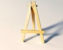 ACEO Mini Easel, natural wood, tiny easel