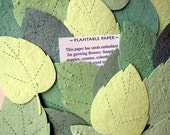 10 Plantable Seed Paper Leaves - Seating Cards Woodland Wedding Favors Flower Maple Leaf Seed Place Cards - Red Orange Golden Yellow Canada