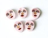 Little Girl face 104 COE Murrini murrine millefiory for figural beads