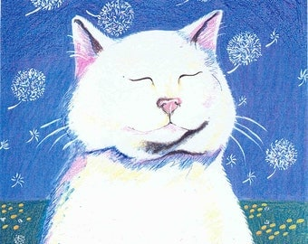 cat collection note card set of 10