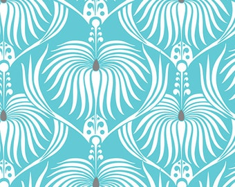 NEW Camelot fabrics, DAHLIA in blue, Last 10 Inches