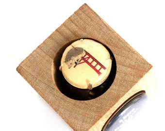 Hedgehog Ring - Woodland Jewelry - Be Brave Ring - Wine Cork Ring - Recycled by Uncorked