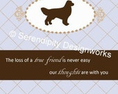 Pet Sympathy Card - Retriever