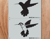 Hummingbird Two Layer Stencil- Reusable Craft & DIY Stencils- S1_2L_08 -8.5x11- By Stencil1