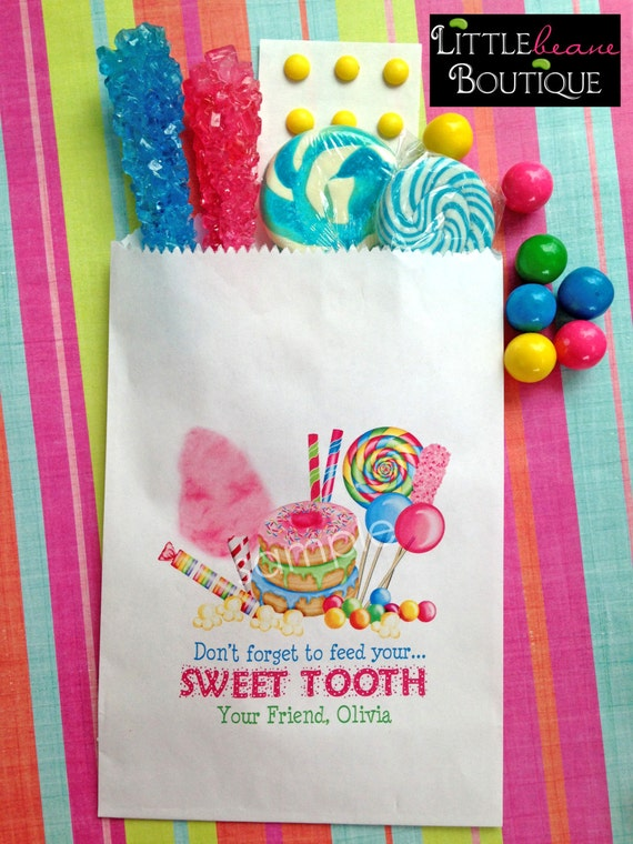 Personalized Candy Bags, Sweet Tooth Collection, Candy ...