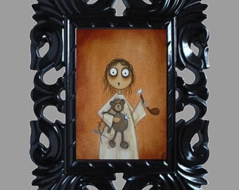 Dark Fantasy Lowbrow Art Print -- Art  Prints and Posters Giclee -- I Didn't Mean To