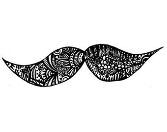 Moustache Notecards