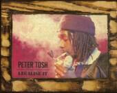 Peter Tosh - Wooden Plaque