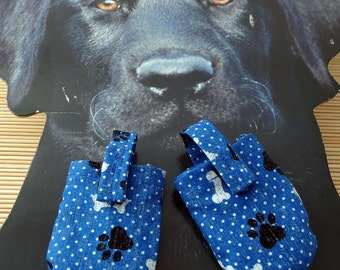 Blue Paws and Bones HUSH PUPPY Dog Tag Covers