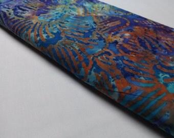 Marcus Brothers Batik No.13 Cotton Quilting Sewing Textiles Cotton Batiks Funky Blue