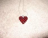 4 Swavorski Hearts