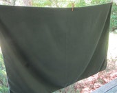 Vintage Cotton Blend Tablecloth - Dark Olive