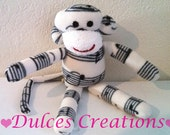 Musical note monkey plush toy Handmade Stuffed Animal Doll Baby