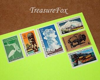NATIONAL PARKS .. Unused Vintage US Postage Stamps .. Mail 5 letters