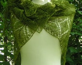 Shawl knitting Pattern knit charted PDF neck scarf shawlette MOTHER NATURE 3 styles lace weight