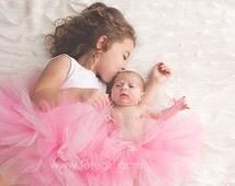 Pink Tutu for Girls, Toddler Pink Tutus, Flower Girl Pink Tutu Skirt, Baby, Toddlers, Infant, Weddings