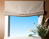 Custom Order - 1 Relaxed Style Custom Roman Shade, Linen, Parchment, Window, Roman Blind