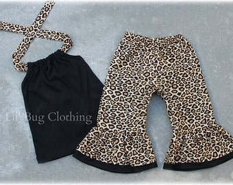 Custom Boutique Leopard Print Capri And Halter Top Outfit