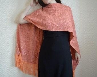 10% MOTHERSDAY code - Handwoven Shawl-wrap-stole in merino, silk, cotton