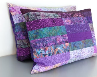 Quilted Pillow Shams Standard Size Shams King Size Shams Euro Pillow Shams Quilted Modern Pillow Quilted Bed Pillows Quilted Pillow Covers