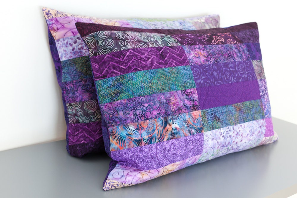 Quilted Pillow Shams Standard Size Shams King By Btaylorquilts