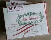 Christmas Cards, Letterpress Be Merry!