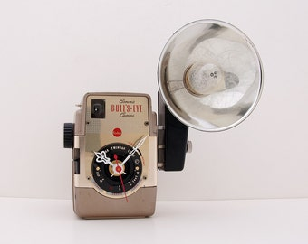 Recycled Kodak Brownie Bullseye Camera Clock
