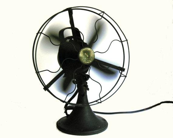 1930s Oscillating Fan Graybar Vintage Electric Cast Iron Fan