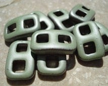 SOFT LIGHT GREEN Ribbon Clasp Qty 1 All-One-Piece Instant Buckle Button