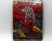 Sewn Duct Tape Comic Book Wallet - Vintage The Flash Design 3