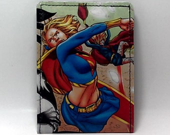 Sewn Duct Tape Comic Book Wallet - Supergirl Design 7