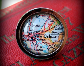 New Orleans Map Drawer Pull