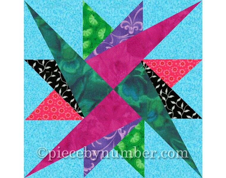 Leysin Star Quilt Block Pattern Paper Pieced Quilt Patterns