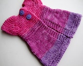 Waldorf Doll Spring Sugar Plum Sweater  Hand Knit  for your 12-16 inch Waldorf Doll  Ready To Ship
