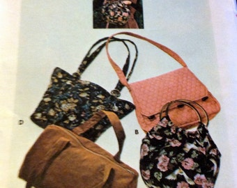 Vintage 70's Sewing Pattern Butterick 4520 Sew a Handbag  Complete