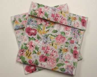 Jewelry Bead Pouches - 12 floral 4 x 3 1/2