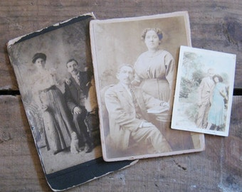 Instant Collection: Vintage Couple Photographs - Set of 3