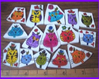 Mosaic Tiles FUNNY CATS Mosaic Tile