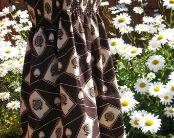OOAK Shirred Top Dress