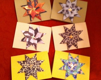 "Origami Paper ""Wild About You"" StarBurst Greeting Cards"