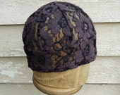 Women's Cocoa Lace Beanie